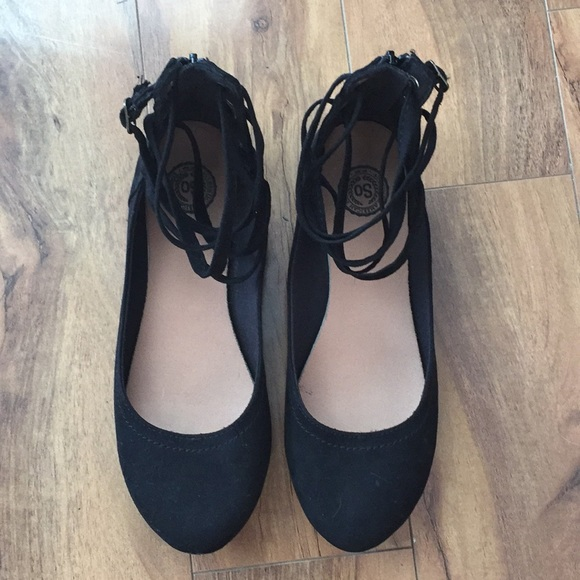 SO Shoes - Ankle Strap Flats